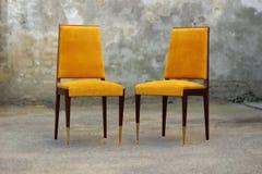 葡萄酒豪华艺术装饰椅子 库存照片