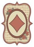 葡萄酒赌博娱乐场啤牌金刚石卡片,传染媒介 库存图片