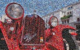 葡萄酒赛车,马赛克 图库摄影