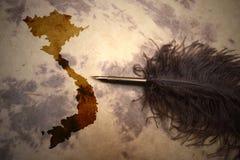 葡萄酒越南地图 库存照片