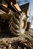 葡萄酒路的巨型轮子的细节 图库摄影