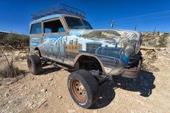 葡萄酒车在Terlingua得克萨斯鬼城 免版税图库摄影