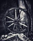 葡萄酒轮子 免版税库存照片