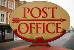 葡萄酒邮局标志 库存图片