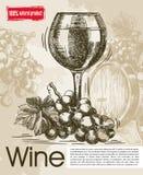 葡萄酒酒品尝  免版税库存图片