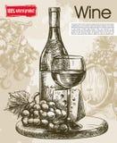 葡萄酒酒品尝  库存图片