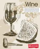 葡萄酒酒品尝  免版税库存照片