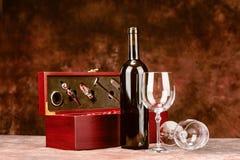 葡萄酒酒盒 免版税图库摄影