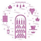 葡萄酒酿造:酒生产和存贮  饮料文化  免版税图库摄影