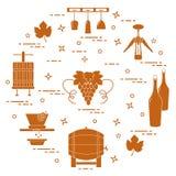 葡萄酒酿造:酒生产和存贮  饮料文化  库存照片