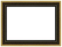 葡萄酒金子和黑木画框 免版税库存图片