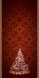 葡萄酒金子圣诞节背景 免版税库存照片