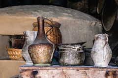 葡萄酒金属器物 Yoruk公园 凯梅尔 免版税图库摄影
