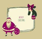 葡萄酒金属标志-圣诞快乐 免版税图库摄影