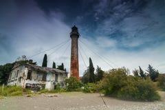 葡萄酒金属灯塔,苏呼米,阿布哈兹 免版税图库摄影