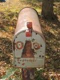 葡萄酒金属邮箱 被绘的表面 库存照片