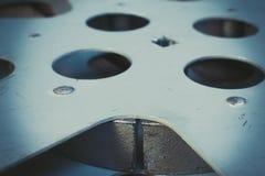 葡萄酒金属16 mm电影卷轴 库存图片