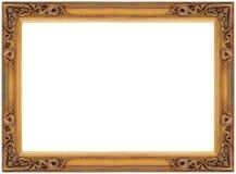 葡萄酒金木画框 免版税库存照片
