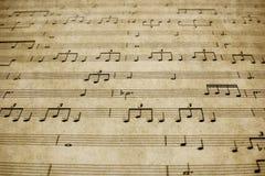 葡萄酒钢琴活页乐谱 免版税库存图片