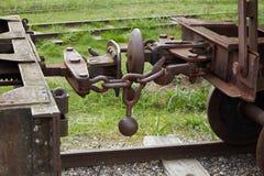 葡萄酒铁路支架的细节 库存照片