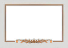 葡萄酒铜框架 图库摄影