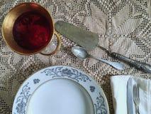 葡萄酒银器 图库摄影