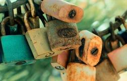葡萄酒锁 免版税库存图片