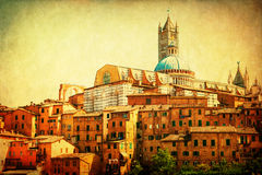 葡萄酒锡耶纳,意大利的样式图片 免版税库存照片