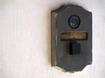 葡萄酒门铃窥视孔 图库摄影