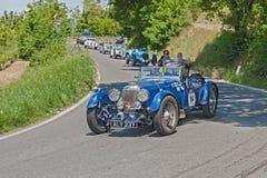 葡萄酒阿斯顿・马丁勒芒在Mille Miglia 2014年 库存图片