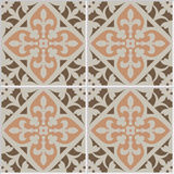 葡萄酒陶瓷拼花地板瓦片无缝的样式 库存图片