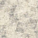葡萄酒难看的东西报纸拼贴画无缝的纹理 免版税库存图片