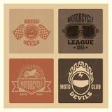 葡萄酒难看的东西马达俱乐部和摩托车同盟标签设计 皇族释放例证