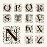 葡萄酒集合大写字母、组合图案和字体 向量例证