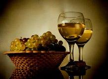 葡萄酒静物画 库存照片