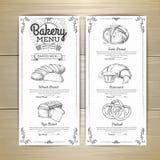 葡萄酒面包店菜单设计 婚姻正餐肉卷熏制的蕃茄 文件模板 库存照片