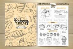 葡萄酒面包店菜单设计 婚姻正餐肉卷熏制的蕃茄 库存图片