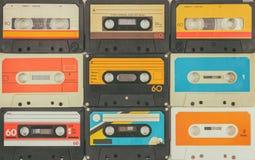 葡萄酒音频紧凑卡式磁带 免版税库存图片