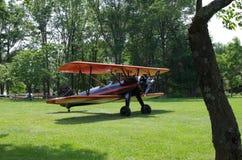 葡萄酒飞机双翼飞机航空 库存照片