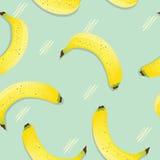 葡萄酒香蕉无缝的背景 库存照片