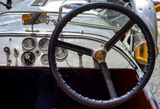 葡萄酒驾驶舱的特写镜头  免版税图库摄影