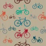 葡萄酒骑自行车无缝的样式 库存图片