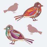 葡萄酒鸟 图库摄影
