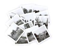 葡萄酒黑白照片拼贴画 图库摄影