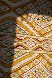 葡萄酒,东方人,五颜六色的手工制造传统羊毛地毯 免版税库存照片