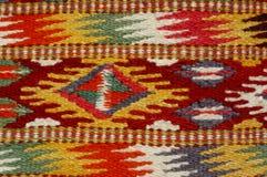 葡萄酒,东方人,五颜六色的手工制造传统羊毛地毯5 库存图片