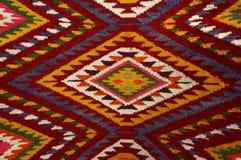 葡萄酒,东方人,五颜六色的手工制造传统羊毛地毯1 库存图片