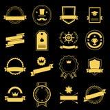 葡萄酒,减速火箭的平的徽章,标签 免版税库存照片
