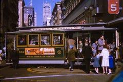 葡萄酒20世纪60年代旧金山台车 免版税库存照片