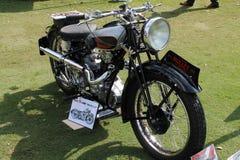 葡萄酒20世纪30年代英国摩托车 免版税库存图片